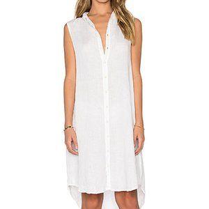 CP Shades White Tunic Shirt Dress Midi Cover Up